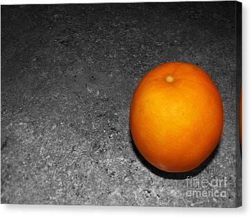 Bright Orange Canvas Print by Ashiley Slaymaker