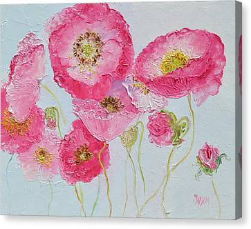Bright Pink Poppies Canvas Print by Jan Matson