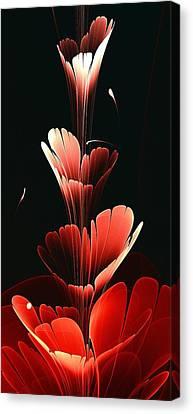 Bright Red Canvas Print by Anastasiya Malakhova