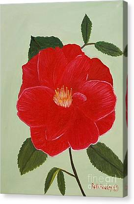 Bright Red Camelia Canvas Print by Ruth  Housley