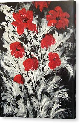 Bright Red Poppies Canvas Print