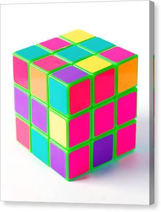 Bright Rubix Canvas Print by Kenneth Feliciano