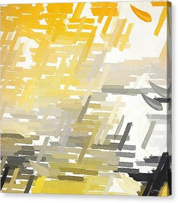 Abstract Art Ideas Canvas Print - Bright Slashes by Lourry Legarde