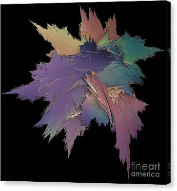 Bright Spray Of Leaves Bouquet Canvas Print by Gail Matthews