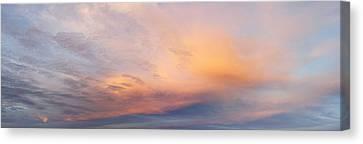 Bright Sunset Sky Canvas Print by Les Cunliffe