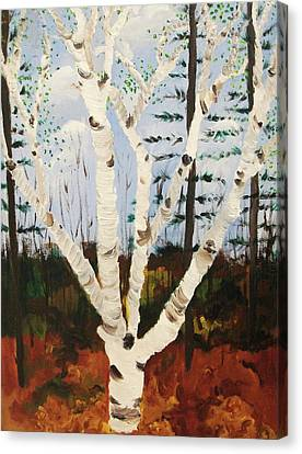 Brightest Birch Canvas Print by Suzanne  Marie Leclair