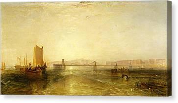 Brighton From The Sea, C.1829 Canvas Print by Joseph Mallord William Turner