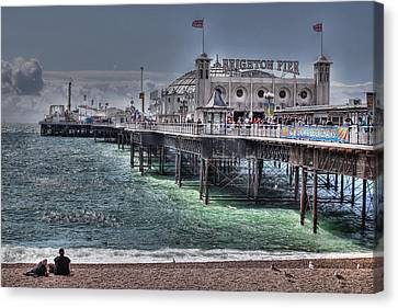 Brighton Pier Canvas Print by Jasna Buncic