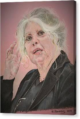 Celeb Canvas Print - Brigitte Bardot 2007 by Hendrik Hermans