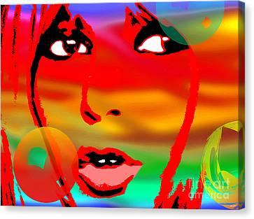 Brigitte Bardot Painting Canvas Print by Daniel Janda