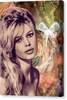 Brigitte Bardot Pop Art Canvas Print by Catherine Arnas