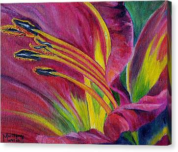 Brilliance Within Canvas Print by Marilyn  McNish