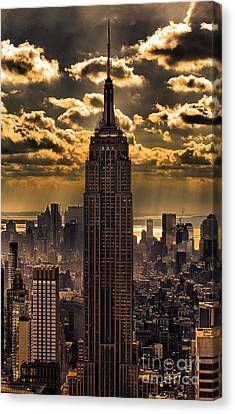 Vista Canvas Print - Brilliant But Hazy Manhattan Day by John Farnan