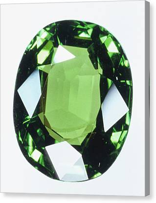Brilliant Cut Green Grossular (garnet) Canvas Print