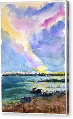 Canvas Print featuring the painting Brilliant Sky Sold by Richard Benson