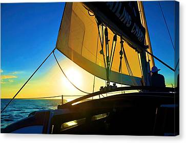 Brilliant Sunset Sail Canvas Print