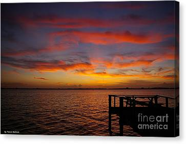 Brilliant Sunset Canvas Print by Tannis  Baldwin