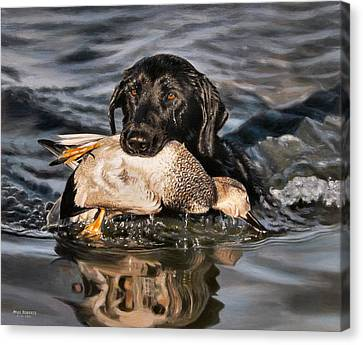 Bring Home The Bird Canvas Print by Mike Roberts