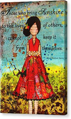 Bring Sunshine Inspirational Christian Artwork Canvas Print by Janelle Nichol