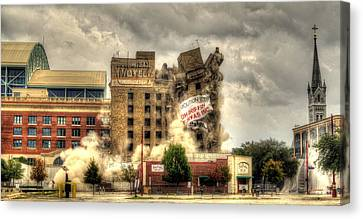 Houston Astros Canvas Print - Bringing Down The House by David Morefield