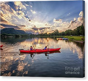 Canvas Print featuring the photograph Bringing It In by Kari Yearous