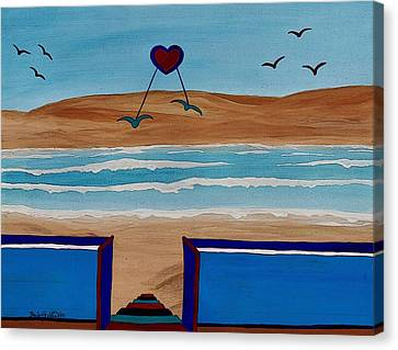 Bringing The Heart Home Canvas Print by Barbara St Jean
