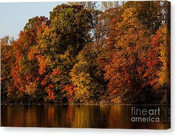 Canvas Print featuring the photograph Brinton Lake by Judy Wolinsky
