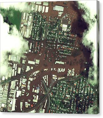 Flooding Canvas Print - Brisbane Floods by Digital Globe