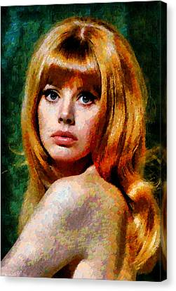 Brit Ekland - Abstract Expressionism Canvas Print by Georgiana Romanovna