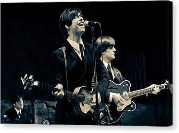 Britain's Finest - Beatles Tribute Band Canvas Print by Salvador Gomez