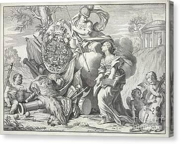 Britannia And Cherubs Canvas Print by British Library