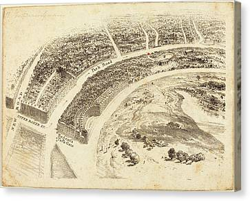 British 19th Century, Invitation With Aerial View Canvas Print by Quint Lox