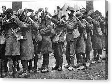 British 55th Division Gas Casualties Canvas Print by Unknown