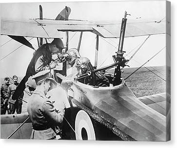 British Aircrew Being Briefed Canvas Print by Library Of Congress
