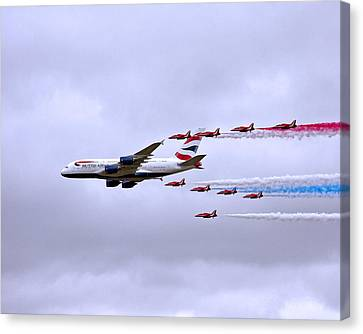 British Airways A380-841 Canvas Print