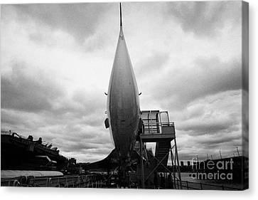 British Airways Concorde Exhibit At The Intrepid Sea Air Space Museum Canvas Print by Joe Fox