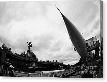 British Airways Concorde Exhibit At The Intrepid Sea Air Space Museum New York City Canvas Print