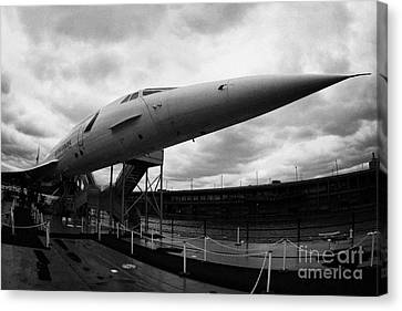 British Airways Concorde Exhibit At The Intrepid Sea Air Space Museum New York Canvas Print by Joe Fox