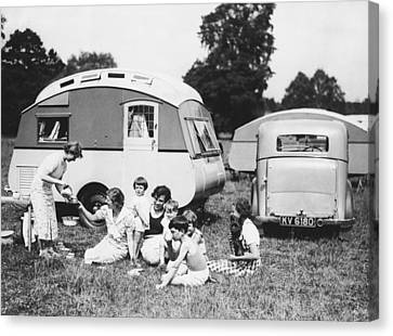 British Caravan Campers Canvas Print
