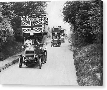 British Double Decker Buses Canvas Print by Underwood Archives