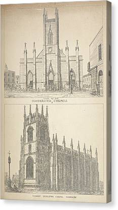 British Gothic Cathedrals Canvas Print by British Library