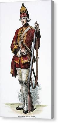 British Grenadier, 18th C Canvas Print by Granger
