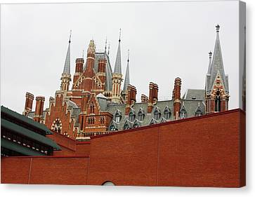 British Library And St. Pancras Canvas Print by Pat Purdy
