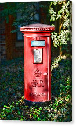 British Mail Box Canvas Print by Paul Ward