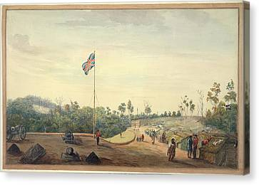 British Military Camp Canvas Print by British Library