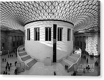Canvas Print featuring the photograph British Museum Black And White by Matt Malloy