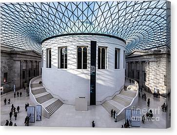 Canvas Print featuring the photograph British Museum Color by Matt Malloy