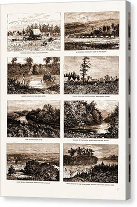 British North America Canada, 1881 On The South-western Canvas Print by Litz Collection