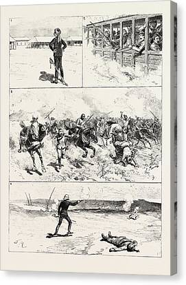 British Officer In Egypt, And That Their Commanding Officer Canvas Print by Egyptian School