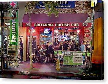 British Pub Canvas Print by Chuck Staley